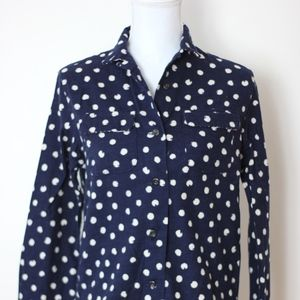 UNIQLO Women's Shirt Button Down Polka Dot Small